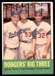 1963 Topps #412   -  Sandy Koufax / Don Drysdale / Johnny Podres Dodgers' Big 3 Front Thumbnail