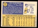 1970 Topps #321  Lou Piniella  Back Thumbnail