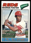 1977 Topps #347  George Foster  Front Thumbnail