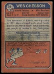 1973 Topps #281  Wes Chesson  Back Thumbnail