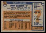 1976 Topps #414  Marv Bateman  Back Thumbnail