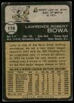 1973 Topps #119  Larry Bowa  Back Thumbnail