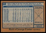 1978 Topps #500  George Foster  Back Thumbnail