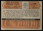 1972 Topps #515  Bert Blyleven  Back Thumbnail
