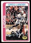 1978 Topps #316  Greg Landry  Front Thumbnail