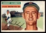 1956 Topps #298  Johnny Schmitz  Front Thumbnail