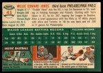 1954 Topps #41 WHT Willie Jones  Back Thumbnail