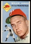 1954 Topps #41 WHT Willie Jones  Front Thumbnail