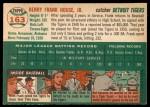 1954 Topps #163  Frank House  Back Thumbnail