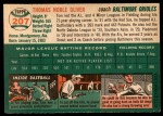 1954 Topps #207  Tom Oliver  Back Thumbnail
