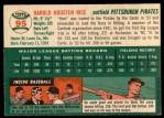 1954 Topps #95  Hal Rice  Back Thumbnail