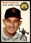 1954 Topps #88  Matt Batts  Front Thumbnail