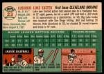 1954 Topps #23 WHT Luke Easter  Back Thumbnail