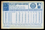 1974 Kellogg's #23  Willie Horton  Back Thumbnail