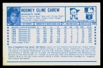 1974 Kellogg's #30  Rod Carew  Back Thumbnail
