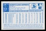 1974 Kellogg's #4  Bert Campaneris  Back Thumbnail