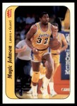1986 Fleer Sticker #7  Magic Johnson  Front Thumbnail