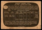 1966 Topps #112  Bobby Hull  Back Thumbnail