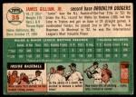 1954 Topps #35 WHT Jim Gilliam  Back Thumbnail