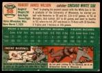 1954 Topps #58  Bob Wilson  Back Thumbnail