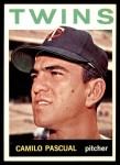 1964 Topps #500  Camilo Pascual  Front Thumbnail