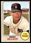 1968 Topps #40  Denny McLain  Front Thumbnail