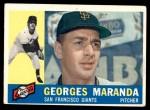 1960 Topps #479  Georges Maranda  Front Thumbnail