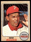 1968 Topps #122  Gene Mauch  Front Thumbnail