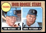 1968 Topps #113 A  -  Tom Matchick / Daryl Patterson Tigers Rookies Front Thumbnail