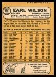 1968 Topps #160  Earl Wilson  Back Thumbnail