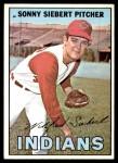 1967 Topps #95 xGL Sonny Siebert  Front Thumbnail