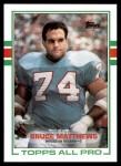 1989 Topps #91  Bruce Matthews  Front Thumbnail