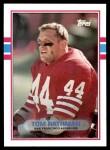 1989 Topps #16  Tom Rathman  Front Thumbnail