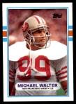 1989 Topps #14  Michael Walter  Front Thumbnail