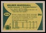 1989 Topps #256  Wilber Marshall  Back Thumbnail