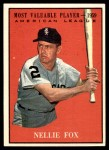 1961 Topps #477   -  Nellie Fox Most Valuable Player Front Thumbnail