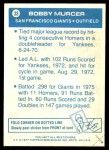 1977 Topps Cloth Stickers #33  Bobby Murcer  Back Thumbnail