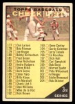 1961 Topps #189 B  Checklist 3 Front Thumbnail