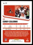 2018 Score #77  Corey Coleman  Back Thumbnail
