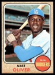 1968 Topps #124 A Nate Oliver  Front Thumbnail