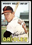 1967 Topps #251  Woodie Held  Front Thumbnail
