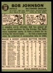 1967 Topps #38 RL Bob Johnson  Back Thumbnail