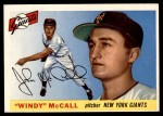 1955 Topps #42  Windy McCall  Front Thumbnail