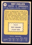 1969 Topps #130  Ray Cullen  Back Thumbnail