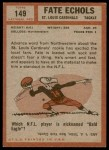 1962 Topps #149  Fate Echols  Back Thumbnail