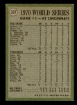 1971 Topps #327   -  Boog Powell / Johnny Bench 1970 World Series - Game #1 - Powell Homers to Opposite Field Back Thumbnail