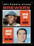 1971 Topps #204   -  George Kopacz / Bernie Smith Brewers Rookies Front Thumbnail