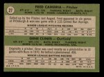 1971 Topps #27   -  Gene Clines / Fred Cambria Pirates Rookies   Back Thumbnail