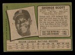 1971 Topps #9  George Scott  Back Thumbnail