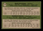 1971 Topps #276   -  George Foster / Mike Davison Giants Rookies Back Thumbnail